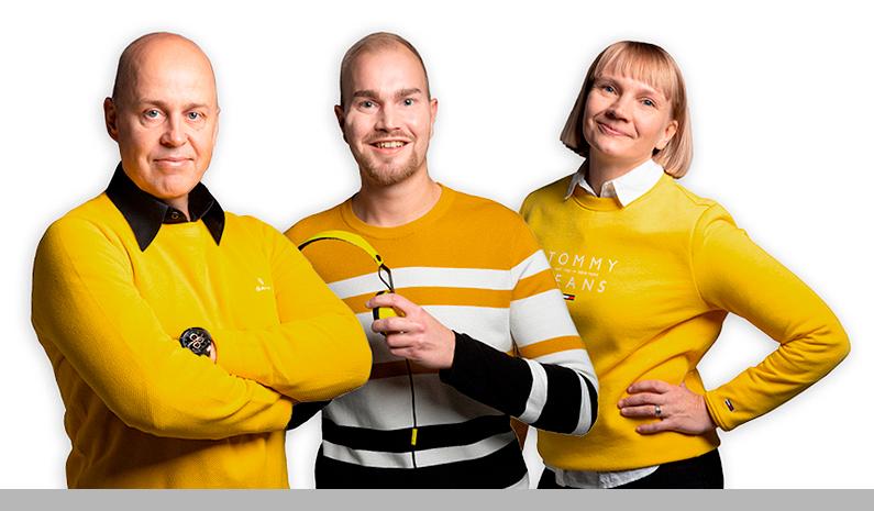 Savon Aallot juontajat: Mika, Sami & Hanna